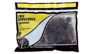 Woodland Scenics TR1122 - Deciduous Tree Armatures from 3 in - 5 in 28Pk