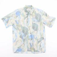 Vintage CHEMISE CLUB Green & Blue Crazy Nature Print Shirt Men's Size Medium