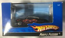 Hot Wheels 1:87 HO ~ Purple Passion (Black w/Flames)  NIB
