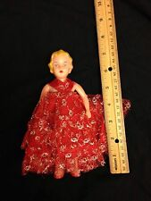 "Lovely Hasbro Vintage 7"" hard Jointed plastic doll"