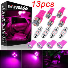 13pack LED Light Interior Package Kit for T10 & 31mm Map Dome License Plate Pink