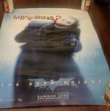 "BATMAN 22""x36"" The Dark Knight Heath Ledger figure WHY SO SERIOUS  poster Joker"