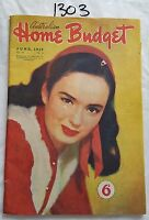 AUSTRALIAN HOME BUDGET 1949 JUNE,WOMENS FASHION AND ISSUES