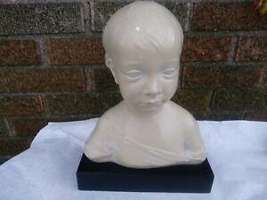 Austin Productions 1962 Child Bust Plaster Sculpture