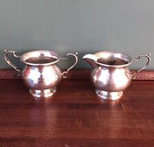 Antique Sterling Silver CREAMER & SUGAR BOWL Hallmarked Hunt Silver Co