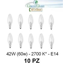 10 Lampada/Lampadina alogena a risparmio energetico 42W (60W) E14 Oliva Cilvani