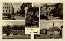 ANNABERG Erzgebirge um 1955 DDR-AK ua. Kreis-Theater, Adam-Ries-Denkmal uvm.