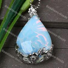 Fire Opal Opalite Gemstone Teardrop Bead Jewelry Pendant Charm Fit Necklace DIY