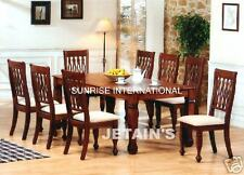 Handmade Solid Wooden Dining table with 6 cushion chair set !