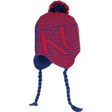 Kansas Jayhawks knit tassel winter hat Adidas NWT NCAA KU Rock Chalk Big 12