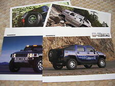 HUMMER H2H H3T H2 H3 ALPHA BROCHURE CARDS x4 2004-2008 USA EDITION