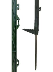 """40 X GREEN 5FT POSTS - 156cm Tall Electric Fence 4ft 6"""" Horse Stakes Poles"""