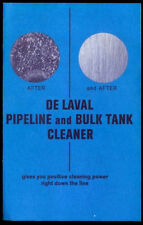 Very Rare Vintage 1967 De Laval Dairy Milking Machine Brochure Bulk Tank Cleaner