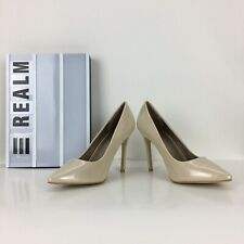 "Women's Bridal Classic Pumps 4 1/2"" Stiletto Heel Patent Ivory Nude 10"