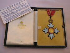 Beautiful large full size C.B.E. Sterling Silver/Guilloche Enamel Medal