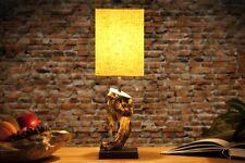 design lampe de table bois massif toile PRODUIT NATUREL beige NEUF