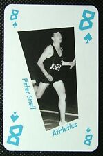 1 x playing card London 2012 Olympic Legends Peter Snell Athletics 8 Spades