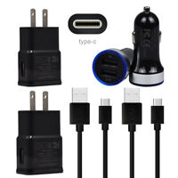 For Samsung Galaxy S8 S9 S10 S10e Note 9 8 USB Fast Cell Phone Charger Cord Set