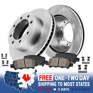 Rear Brake Disc Rotors Ceramic Pads For 2000 2001 2002 Dodge Ram 2500 3500