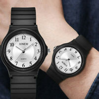 Ultra-thin Unisex Children Sports Watch Silicone Watch Analog Quartz Wristwatch