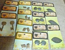 Lot of 14 Paks Vintaj Natural Brass and Arte Metal Pendants Stampings Charms NIP