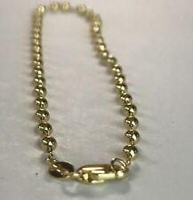 10k ITALY Yellow Gold Beads Chain Ankle Bracelet  Anklet Ladies Women Teen