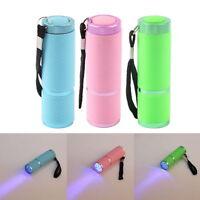 Mini Aluminum 9 LED UV Ultra Violet Blacklight AAA Flashlight Torch Light Lamp