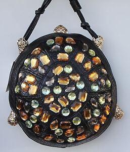 Schildkröten Tasche Schwarz Handtasche Schultertasche  Damentasche Eye Catcher