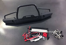 Alloy Front Bumper with LED Lights for TRX4 Scale Trail Crawler