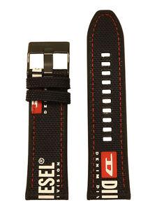 Diesel Uhrband LB-DZ4512 Wechselarmband Nylon 26 mm Schwarz DZ4512 LB-DZ4512