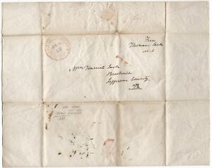 U.S. CONGRESSMAN AUTOGRAPH FREE STAMPLESS LETTER 1841, PENNSYLVANIA, WASHINGTON