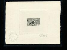 Somali Coast 1960 Birds Scott 284 Signed Sunken Die Artist Proof in Black