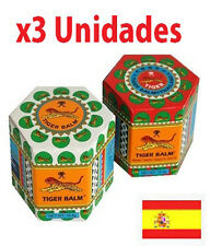 ¡OFERTA! 3 BALSAMO DE TIGRE ROJO/BLANCO 19 GR ENVIO URGENTE DESDE ESPAÑA!