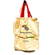 RARE 2006 Canvas Tote Bag from eBay Live Convention Shopping Bag Reusable Ivory