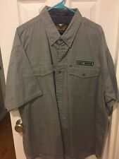 Harley Davidson Sz 2XL Embroidered Button Down Gray Casual Shirt