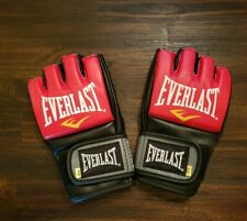 Everlast Pro Style Mma Grappling Fight Gloves, Size Small/Medium, Red Black, 4oz