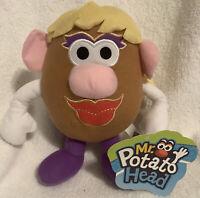 "Mr. Potato Head MRS. POTATO HEAD 8"" Plush Stuffed Animal TOY NEW with Tag"