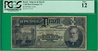 Brazil mil reis Estampa 7A, A255 PCGS*12* Fine! Extremely rare in any condition!
