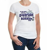 Damen Kurzarm Girlie T-Shirt Ich bin nicht einfach gestrickt Wolle Sprüche