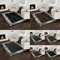 Large/Small Area Marble Rug for Living Room Bedroom Floor Carpets Modern Mats UK
