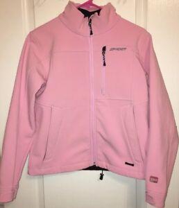 Spyder Jacket Sport XT.L  waterproof Kids XL Pink Softshell Full Zip