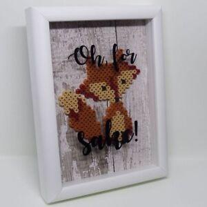 OH, FOR F**** FOX SAKE! Framed 3D box frame motto home decor art gift idea