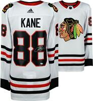 Patrick Kane Chicago Blackhawks Autographed White Adidas Authentic Jersey