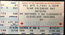 1993 Toronto Blue Jays SkyDome Home Opener Vs Cleveland Indians MLB Baseball