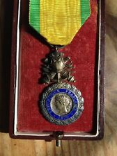 ORIGINAL WWI FRENCH MEDAILLE MILITAIRE - 3rd REPUBLIC - BIFACE CANONS WITH BOX