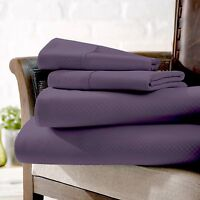 Hotel Quality Elegant Checkered Bed Sheet Set by The Home Collection