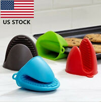 Silicone Oven Gloves Heat Resistant Mini Mitt Pot Holder Cooking BBQ Kitchen