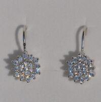 Echt 925 Sterling Silber Ohrringe Ohrhänger Zirkonia crystal  Nr 44