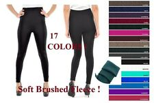 WOMEN CABLE KNITTED THICK WARM BRUSHED FLEECE LINED LEGGINGS WINTER THERMAL