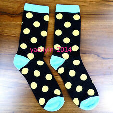 2Pairs Mens Socks Cotton Casual Dress Polka Dots Socks 19*20cm AWZ74